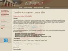 Exploration of the Bill of Rights Lesson Plan