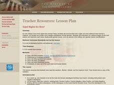 Equal Rights for Men? Lesson Plan
