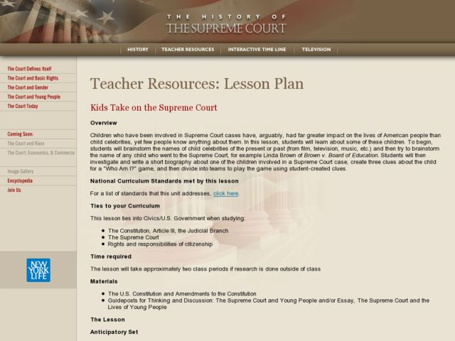 Kids Take on the Supreme Court Lesson Plan