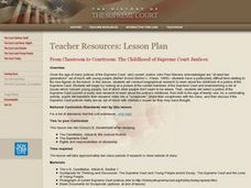 From Classroom to Courtroom: The Children of Supreme Court Justices Lesson Plan