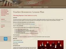 Choosing Supreme Court Justices in 2005 Lesson Plan