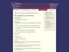 The Gilded Age and Liberty Lesson Plan