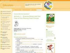 Arianna Bones and the Case of the Missing Food Groups Lesson Plan