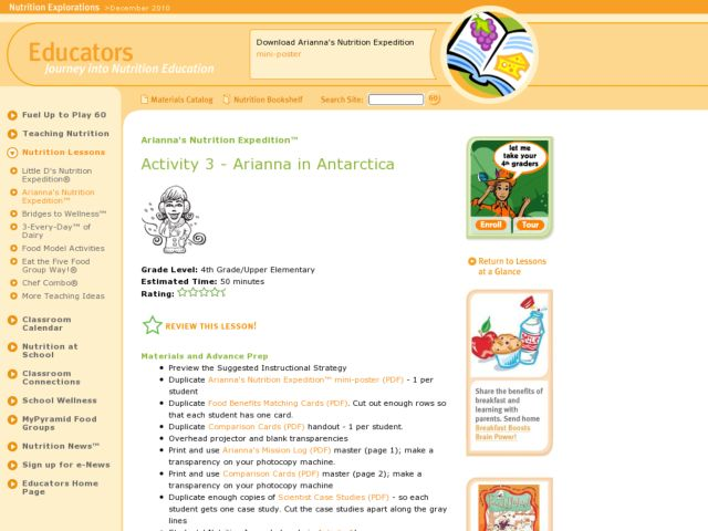 Arianna in Antarctica Lesson Plan