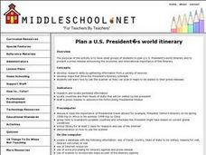 President's World Itinerary Lesson Plan