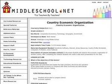 Country Economic Organization Lesson Plan