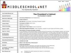 The President's Cabinet Lesson Plan