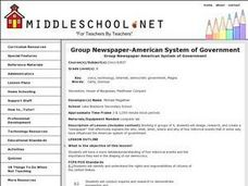 Group Newspaper-American System of Government Lesson Plan