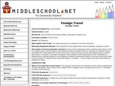 Foreign Travel Lesson Plan