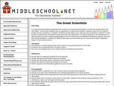 The Great Scientists Lesson Plan