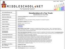 Deceleration of a Toy Truck Lesson Plan