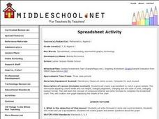 Spreadsheet Activity Lesson Plan