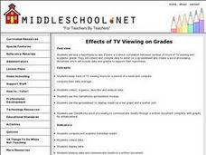 TV Viewing Lesson Plan