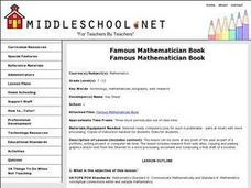 Famous Mathematician Book Lesson Plan