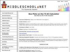 Box Plots on the TI-83 Calculator Lesson Plan