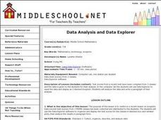 Data Analysis and Data Explorer Lesson Plan