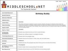 Birthday Buddy Lesson Plan