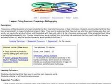 Citing Sources - Preparing a Bibliography Lesson Plan