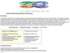 Determining Authority and Accuracy Lesson Plan