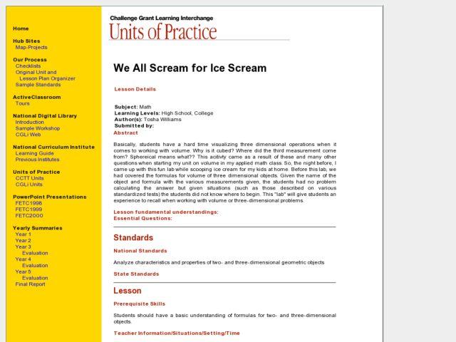 We All Scream for Ice Scream Lesson Plan