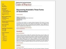Discovering Aristotle's Three Forms Lesson Plan