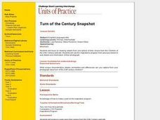 Turn of the Century Snapshot Lesson Plan