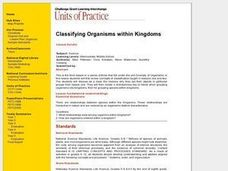 Classifying Organisms within Kingdoms Lesson Plan