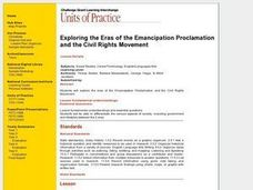 Exploring the Eras of the Emancipation Proclamation and the Civil Rights Movement Lesson Plan
