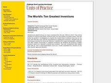 The World's Ten Greatest Inventions Lesson Plan