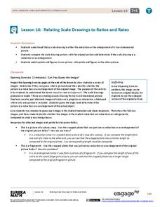 Relating Scale Drawings to Ratios and Rates Lesson Plan