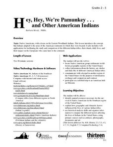 Hey, Hey, We're Pamunkey... and other American Indians Lesson Plan