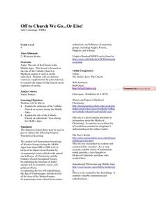 Off to Church We Go - Or Else! Lesson Plan