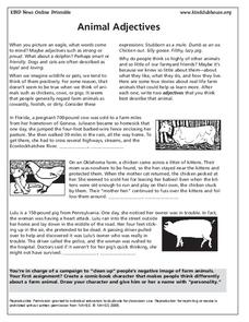Animal Adjectives Lesson Plan