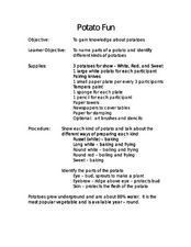 Potato Fun Lesson Plan