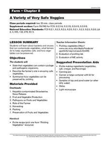 A Variety of Very Safe Veggies Lesson Plan