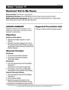 Bacteria? Not In My House Lesson Plan