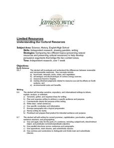 Limited Resources - Understanding Our Cultural Resources Lesson Plan