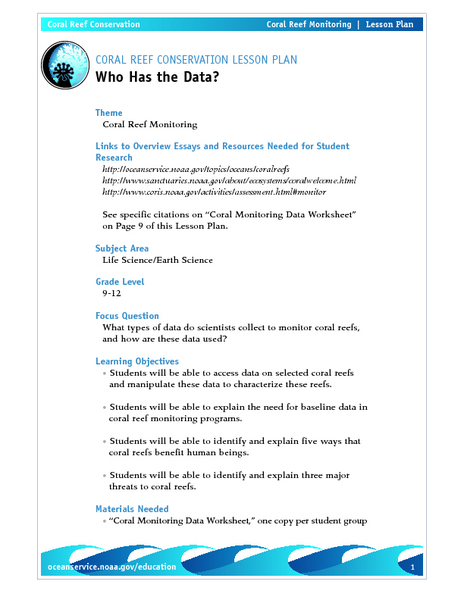 Who Has the Data? Lesson Plan