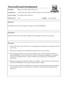 Nontraditional Occupations Lesson Plan