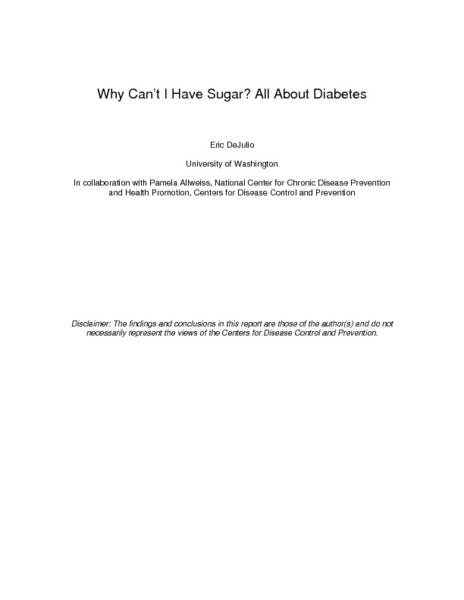 Why Can't I Have Sugar? All About Diabetes Lesson Plan