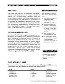 Amusement Park Attractions Lesson Plan