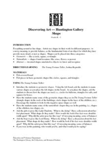 Discovering Art-Huntington Gallery Shape Lesson Plan