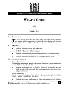 Weaving Cotton Lesson Plan