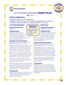 My Favorite Birthday Lesson Plan