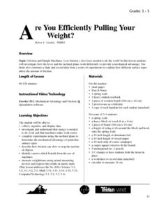 Are You Efficiently Pulling Your Weight? Lesson Plan