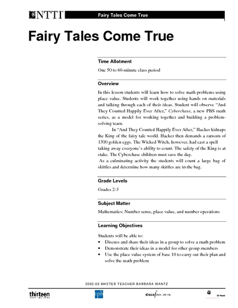 fairy tales come true lesson plan for 2nd 3rd grade lesson planet. Black Bedroom Furniture Sets. Home Design Ideas
