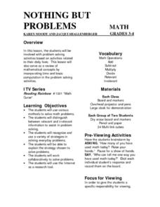 Nothing But Problems Lesson Plan
