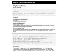 10 by 10 Tessellations Lesson Plan