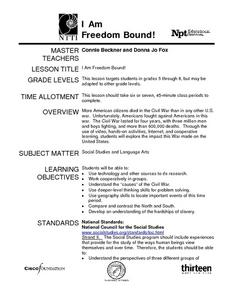 I Am Freedom Bound! Lesson Plan