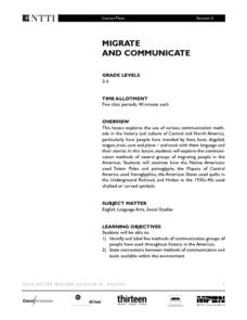 Migrate and Communicate Lesson Plan